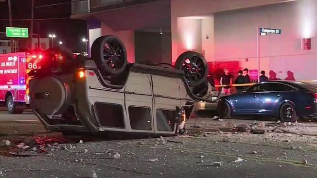 Driver drops from 3rd floor of parking garage with a G-Class and survives