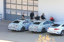 The Mercedes-AMG CLA 35 and CLA 45 caught together dressed in camo