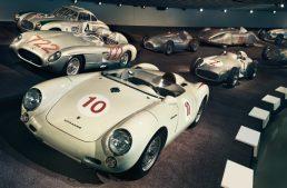 What's a Porsche 550 Spyder doing in the Mercedes-Benz Museum?