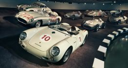 What's a Porsche 550 Spyder doing in the Mercedes-Benz Museum?