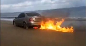 He is the mad man that burned his Mercedes live on Facebook