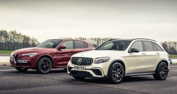 Mercedes-AMG GLC 63 S vs Alfa Romeo Stelvio Q4 – The drag race of the family SUVs