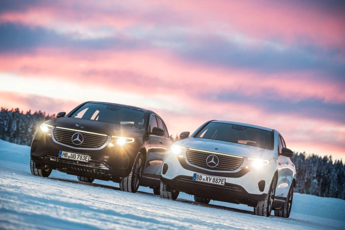 Mercedes-Benz EQC goes dancing on ice