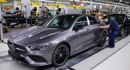 New Mercedes-Benz CLA hits the assembly line