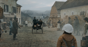 The movie commercial with Bertha Benz was filmed in the land of Dracula