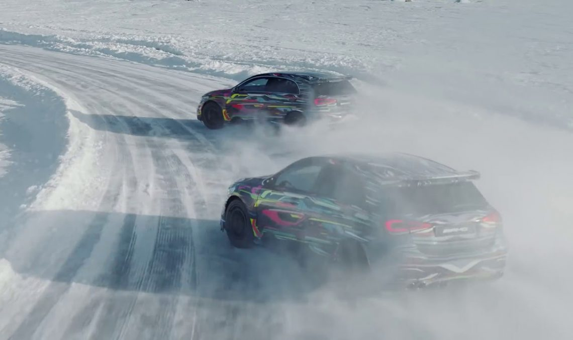 Mercedes-AMG A 45 4MATIC video-teased. Why drive when you can drift?