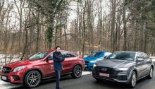 comparison test Mercedes GLE Coupe BMW X6 Audi Q8