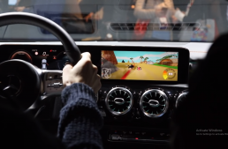 New Mercedes CLA let's you play Mario Kart on its central display