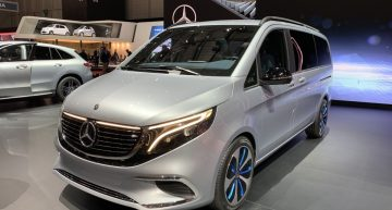LIVE from GENEVA 2019: Mercedes EQV Concept with 8 seats, 0 emissions