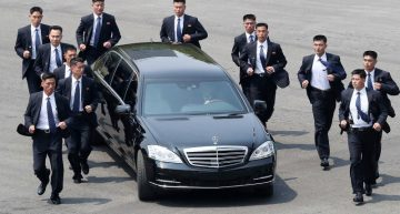 Kim Jong Un gets his armored Mercedes limousines from unknown sources