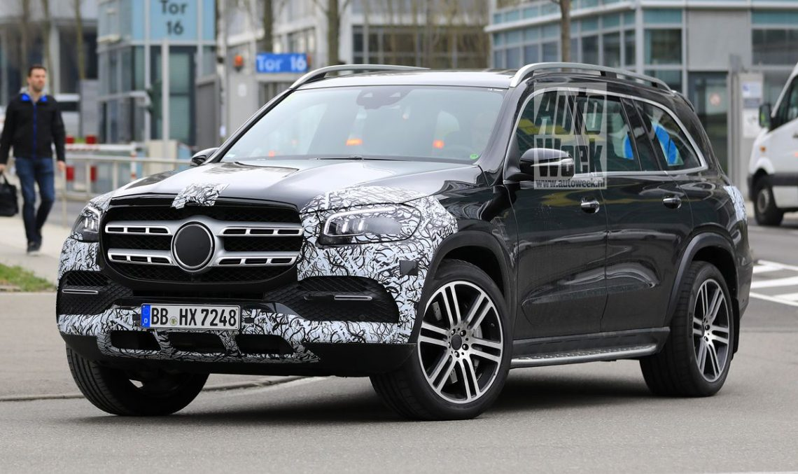 Mercedes-Benz GLS striptease before the New York Auto Show premiere