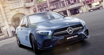Mercedes-AMG A 35 L: Long wheelbase performance A-Class at Auto Shanghai 2019