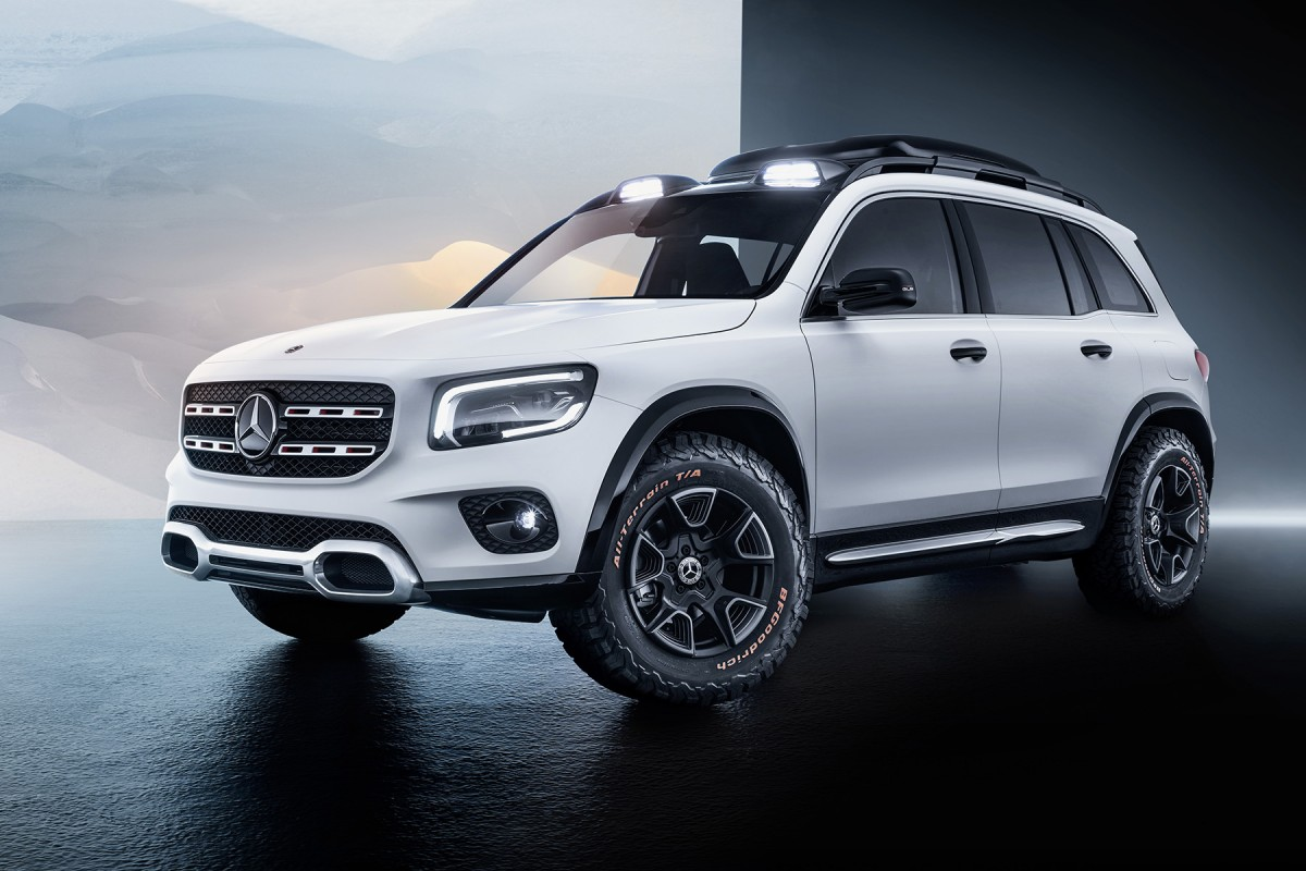 auto shanghai 2019  mercedes-benz glb concept  the future compact 7 seater suv