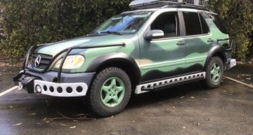 Jurassic Park inspired Mercedes-Benz ML for sale on ebay