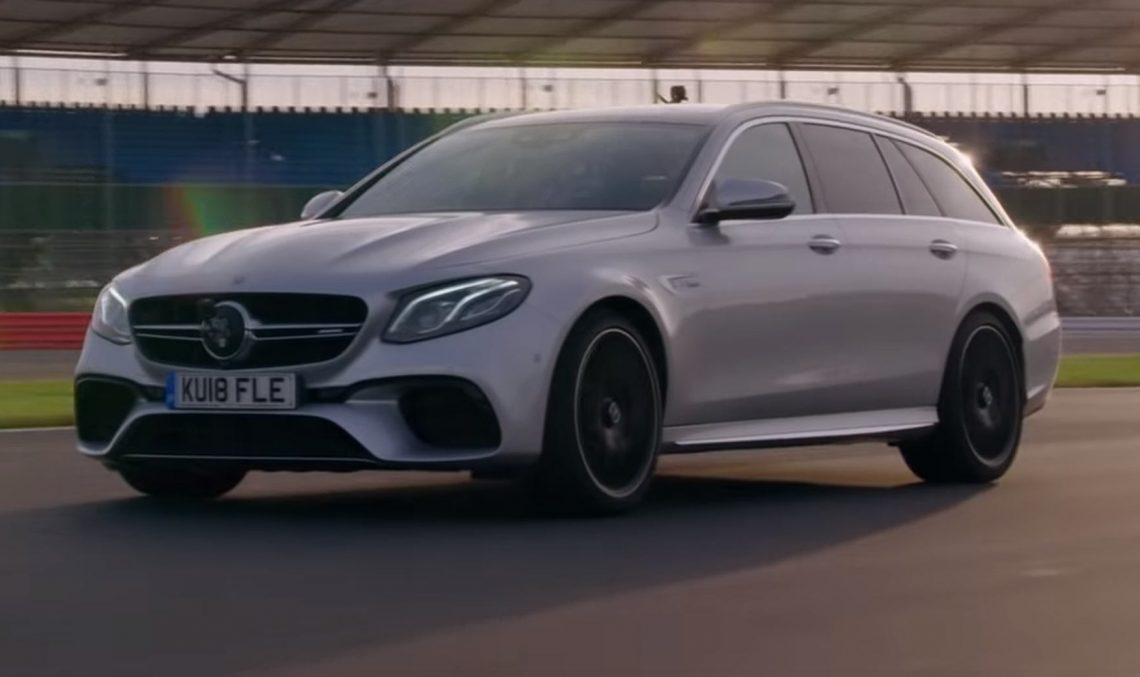 This is how it's done! Lewis Hamilton, demonstration of force, in a Mercedes-AMG E63 S Estate