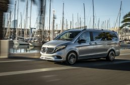 Mercedes-Benz EQV concept on a ride in Barcelona