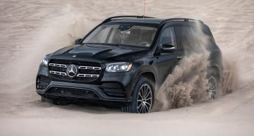 The new Mercedes-Benz GLS fights sand dunes with its E-Active Body Control