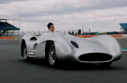 Toto Wolff drives the legendary Mercedes W 196, that Fangio drove to victory