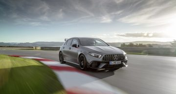 The new Mercedes-AMG A 45 S 4Matic+ has reached a 7:48,8 minutes lap at Nurburgring with semi-slick tyres