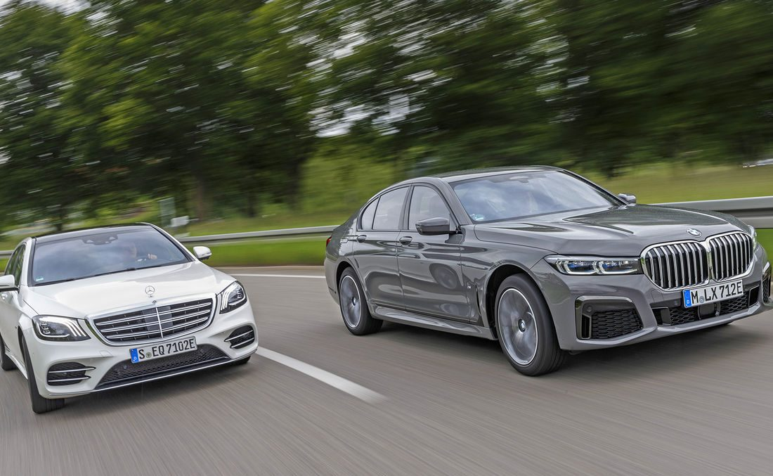 Eco blends with luxury: Plug-in hybrid Mercedes-Benz S 560 e vs. BMW 745e
