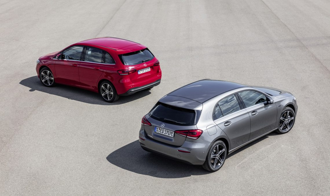 Mercedes-Benz A- and B-Class plug-in hybrids for the first time