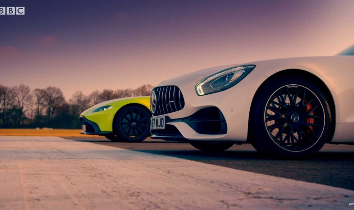 Mercedes-AMG GT S vs Aston Martin V8 Vantage in Top Gear clash