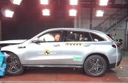 What is the EuroNCAP rating for the new Mercedes-Benz EQC and CLA?