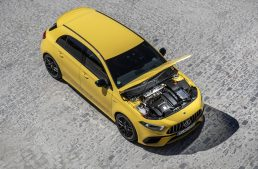 The 2.0-liter turbo engine of the Mercedes-AMG A 45 could be used by bigger models, too