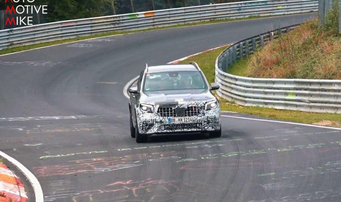 Video: Mercedes-AMG GLB 45 spied on the Nürburgring
