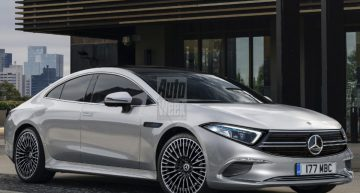 Realistic render previews electric sedan Mercedes-Benz EQS design