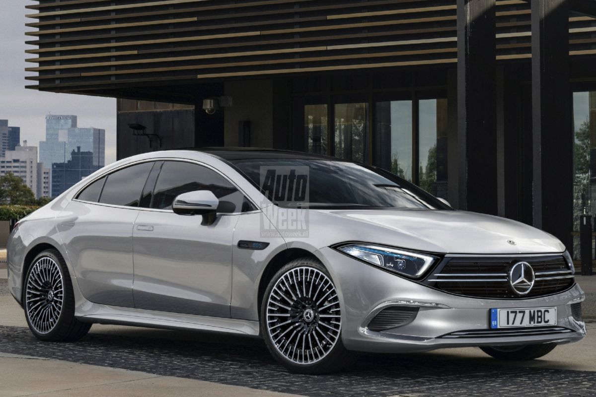 Realistic render previews electric sedan Mercedes-Benz EQS ...