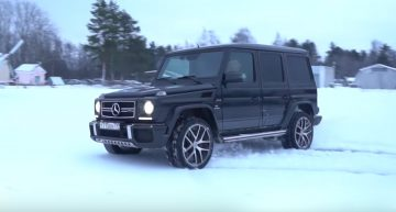 Mercedes-AMG G63 dropped from the helicopter