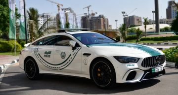 The Mercedes-AMG GT 63 S becomes a police car in Dubai