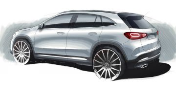 Official sketch – First glimpse of the future Mercedes-Benz GLA