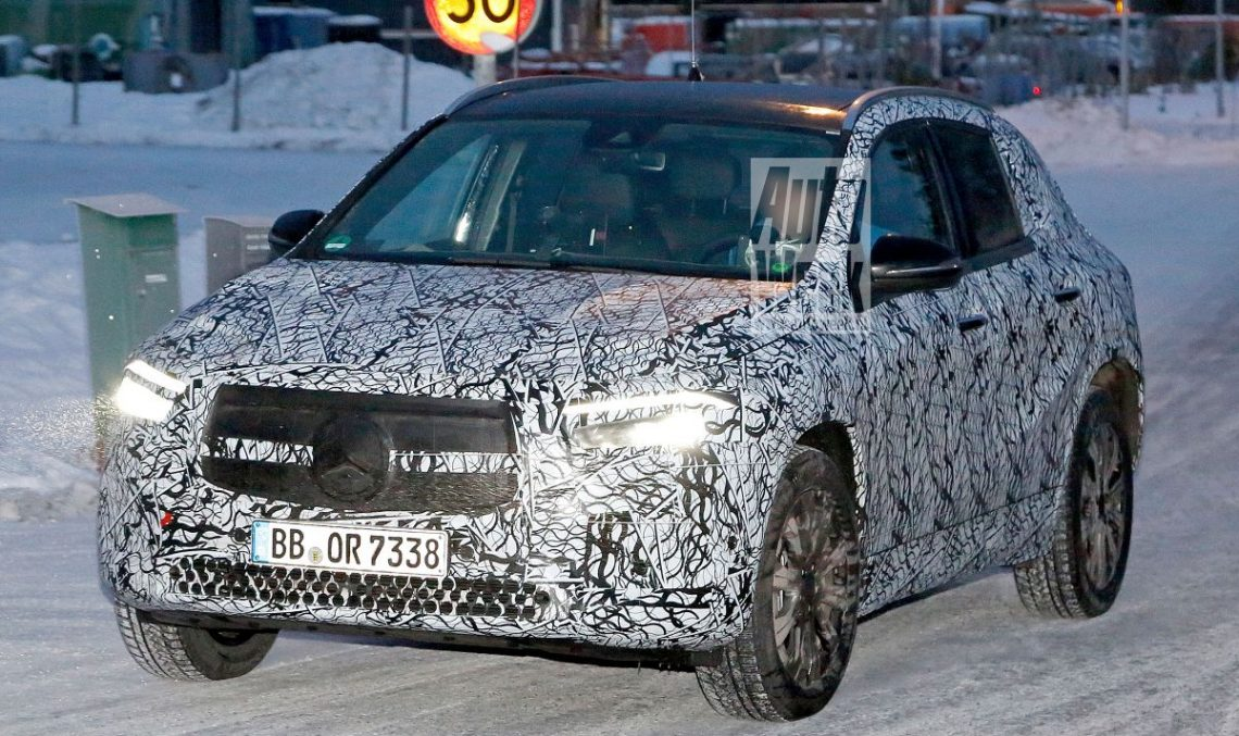 First spy pics: Mercedes-Benz EQA electric SUV caught playing in the snow