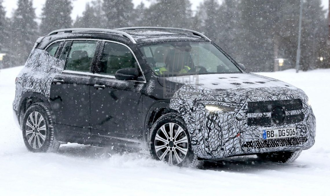 Scoop: Mercedes EQB electric SUV shows up for the first time