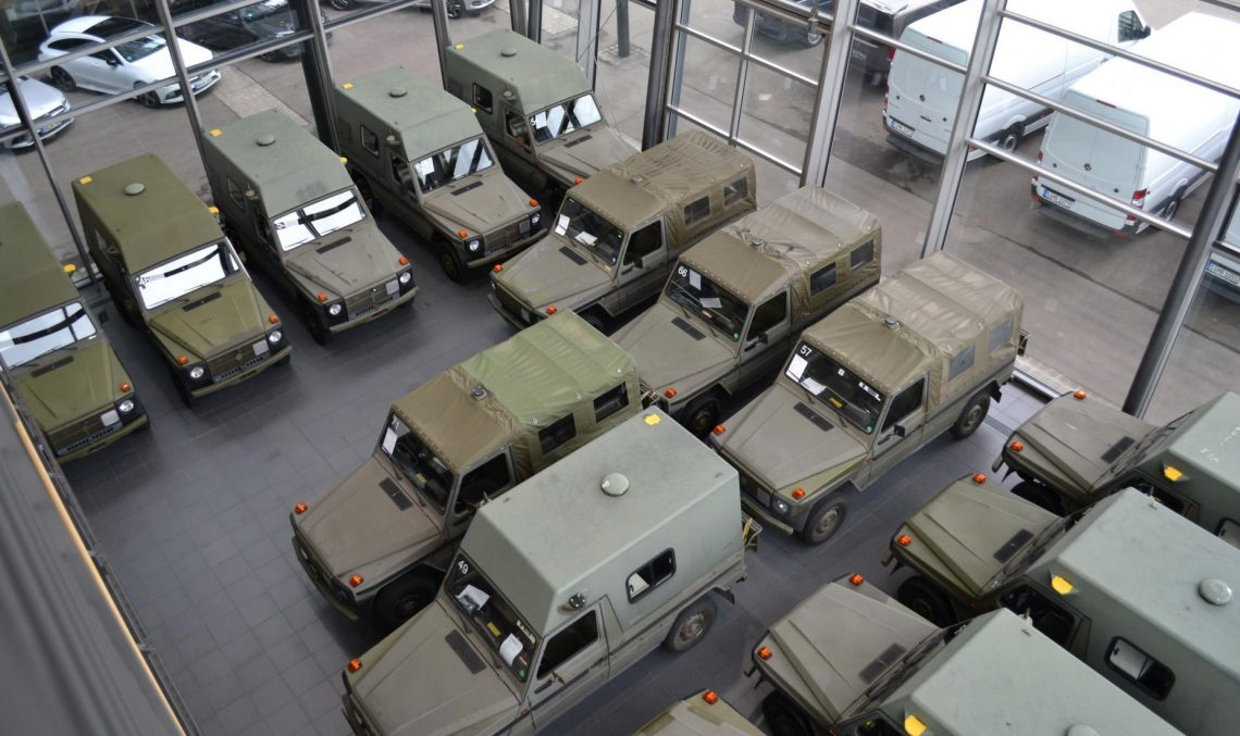An army of G-Class. Lorinser sells over 30 such military vehicles