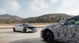 Pre-production Mercedes-Benz EQS meets the concept in third-degree encounter