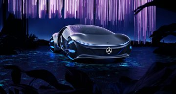 Driving the Mercedes-Benz Vision AVTR feels like playing a video game