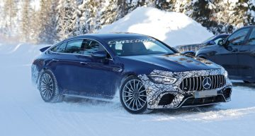 800+ hp plug-in hybrid? Mercedes-AMG tests GT 4-Door Coupe with electric power