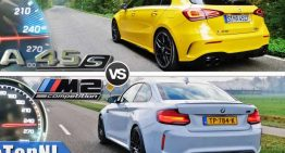 Who accelerates best: The Mercedes A45 or the BMW M2?