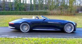 Supercar Blondie drives the undriveable: Mercedes-Maybach Vision 6 Cabriolet