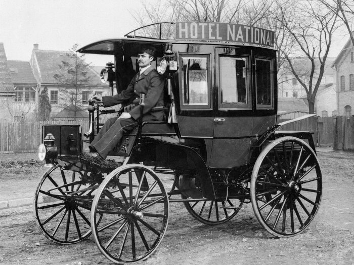 The first bus with a combustion engine was delivered 125 years ago