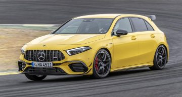 Mercedes-AMG A45 S 4MATIC+ faster than the Lamborghini Murcielago