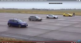Mercedes-AMG A 45 S 4Matic+ vs BMW M2, Audi RS3, VW Golf R: Drag race