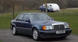Mr. Bean sells one more Benz: a Mercedes-Benz 500 E W124