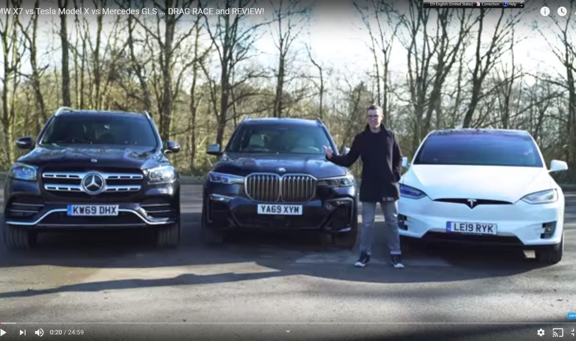 First comparison test Mercedes-Benz GLS vs BMW X7 and Tesla Model X