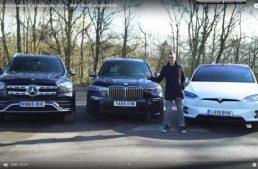 First comparison test Mercedes-Benz GLS vs BMW X7 and Tesla Model X