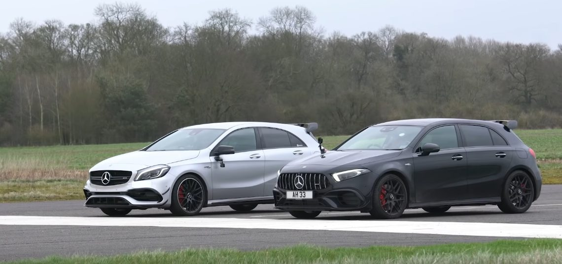 The son fights his father: new Mercedes-AMG A 45 S versus the old one