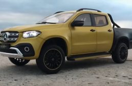 A scale model in the loving memory of the Mercedes-Benz X-Class